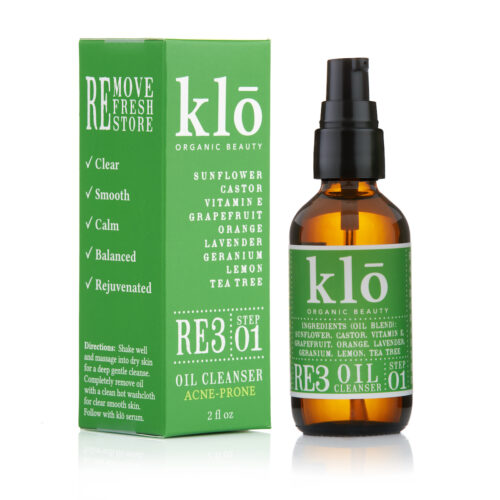 Klo Organic Beauty RE3 Oil Cleanser for Acne-Prone Skin