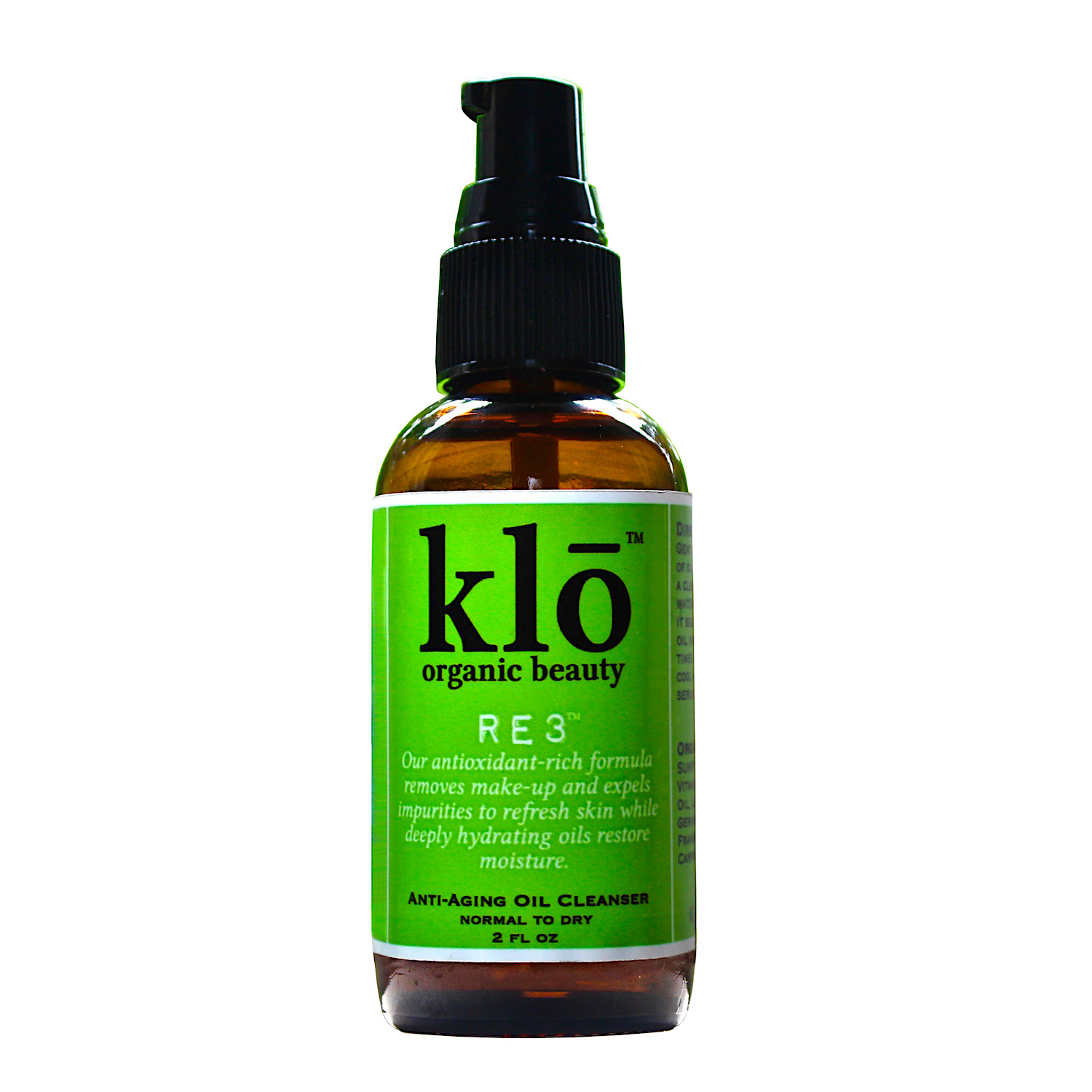 Klō Organic Beauty RE3 oil cleanser for normal-dry skin
