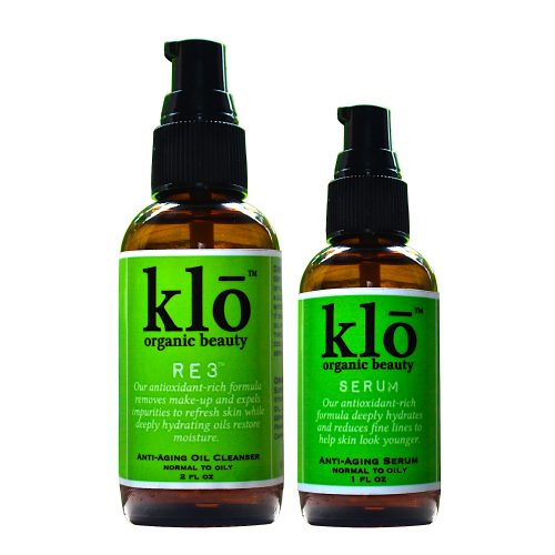 Klō Organic Beauty oil cleanser and serum duo for acne-prone and oily skin