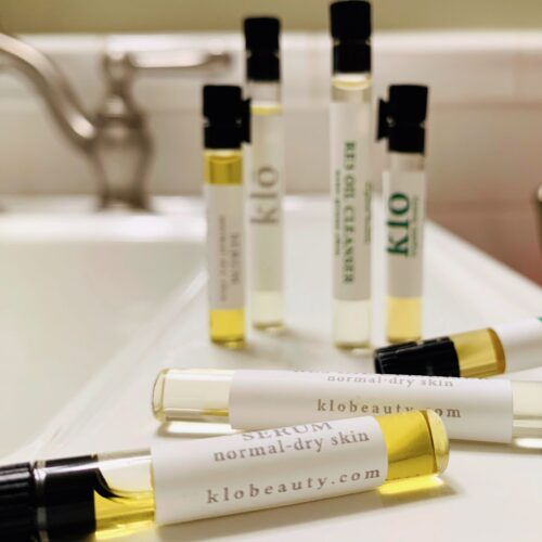Klo Organic Beauty oil cleanser and serum samples