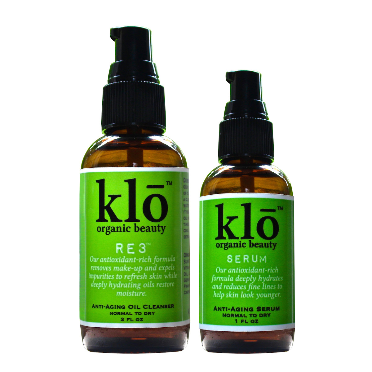 Organic oil cleanser and serum duo