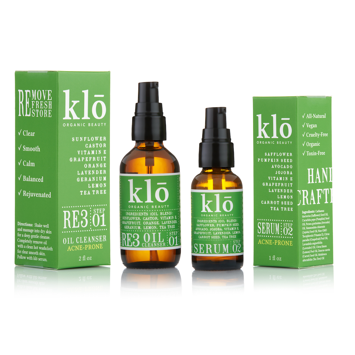 Klō Organic Beauty Acne-Prone Duo